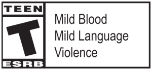 ESRB Teen rating - Mild blood, Mild language, violence